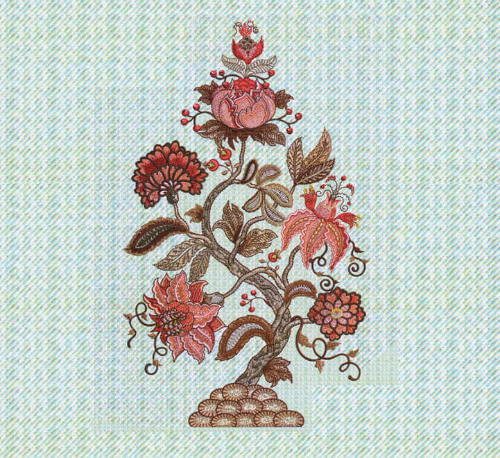 Flower embroidery digitizing